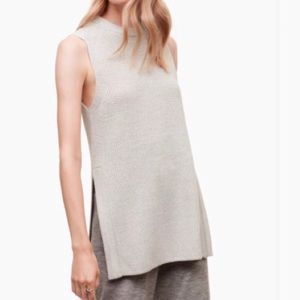 Wilfred sleeveless sweater with slits 100% wool